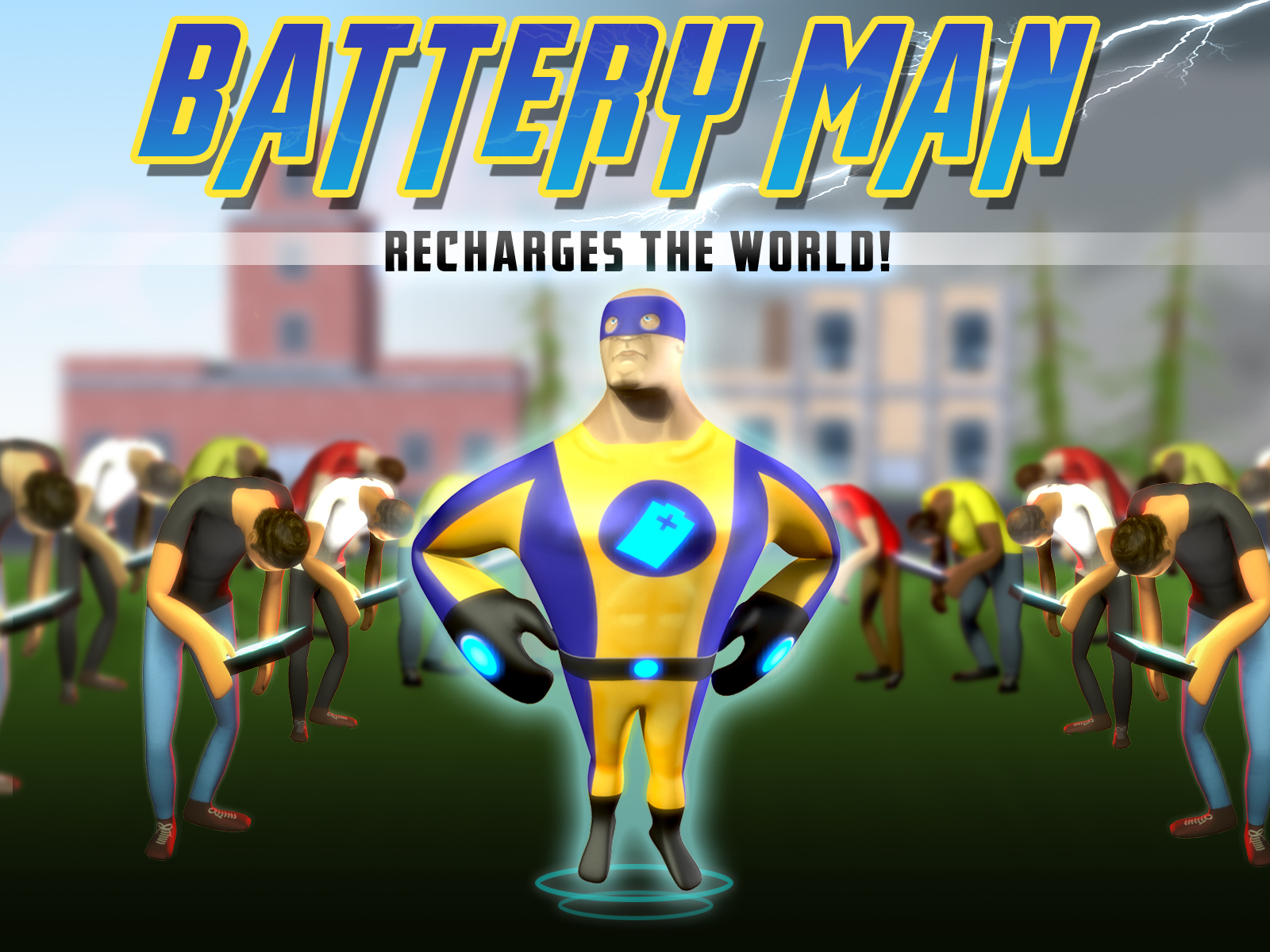 TitleScreen of BatteryMan Recharges the World