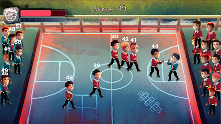 Gameplay of Skool Brawl