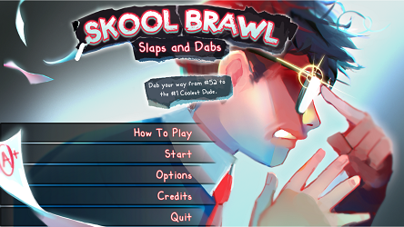 The Main Menu of Skool Brawl